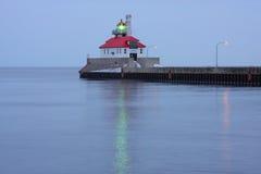 pilier de phare de duluth du sud Image stock