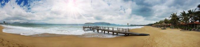 Pilier de plage Photographie stock
