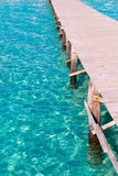 Pilier de plage de Platja de Alcudia en Majorque Majorca Photos libres de droits