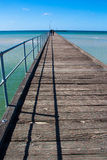 Pilier de plage de Rye à la péninsule de Mornington, Australie image stock