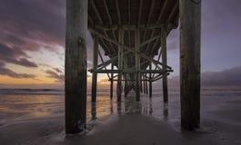 Pilier de plage de Fernandina Images libres de droits