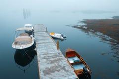Pilier de port de Boothbay Image stock
