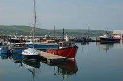pilier de port de pêche de bateaux Photo libre de droits