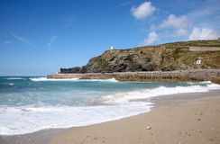 Pilier de Portreath. Photographie stock