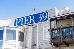 Pilier 39 de San Francisco Photos libres de droits