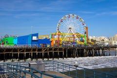 Pilier de Santa Monica Photos libres de droits