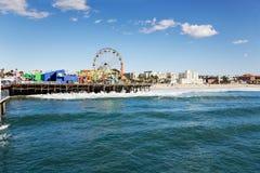 Pilier de Santa Monica Photo libre de droits