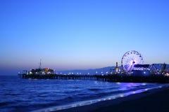 Pilier de Santa Monica photographie stock
