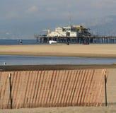 Pilier de Santa Monica en LA Photo stock