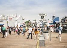 Pilier de Santa Monica, Los Angeles Photographie stock libre de droits
