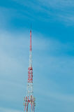 Pilier de télécommunication image stock
