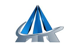 pilier de triangle de la pyramide 3D Image libre de droits
