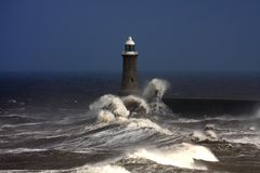 Pilier de Tynemouth Images stock