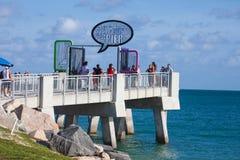 Pilier du sud de Pointe dans Miami Beach images libres de droits
