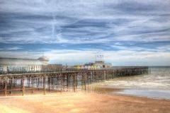 Pilier East Sussex Angleterre R-U de Hastings dans HDR coloré images libres de droits
