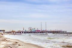 Pilier en acier, parc d'attractions premier d'Atlantic City Images libres de droits