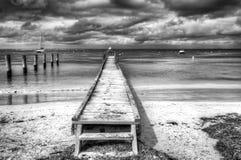 Pilier en bois à l'île de Rottnest photo stock
