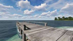 Pilier en bois sur la plage Photo libre de droits