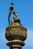 Pilier en bronze Images stock