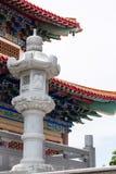 Pilier en pierre dans le temple chinois photo libre de droits