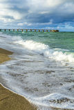 Pilier en Sunny Isles Beach à Miami Photo stock