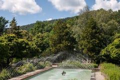 Pilier et parc de Krynica Gorska Images libres de droits