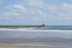 Pilier et phare de Berwick-sur-Tweed Photos libres de droits