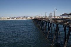 Pilier impérial près San Diego du centre, la Californie de plage Photos stock