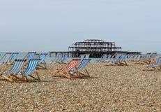 pilier le Sussex de Brighton de plage Image libre de droits
