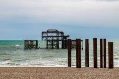 Pilier occidental, Brighton image libre de droits