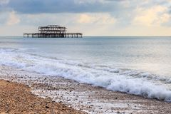 Pilier occidental, Brighton photographie stock