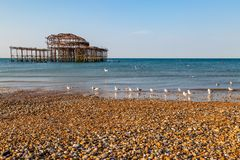 Pilier occidental, Brighton image stock