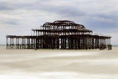 Pilier occidental Brighton image libre de droits
