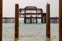 Pilier occidental, Brighton, R-U photo stock