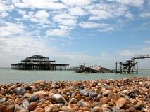 Pilier occidental de Brighton Images libres de droits
