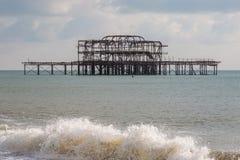 Pilier occidental du ` s de Brighton photos libres de droits