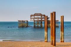 Pilier occidental du ` s de Brighton images stock