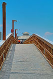 Pilier piétonnier au fort Myers Beach Florida Image stock