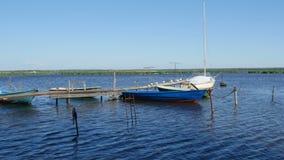 Pilier pour des bateaux de pêche clips vidéos
