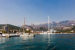 Pilier pour naviguer des yachts image stock