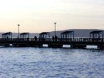 Pilier public de pêche Image libre de droits