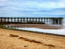Pilier sur la plage de noix Photos libres de droits