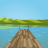 Pilier sur le lac Images stock