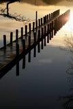 Pilier sur le lac Coniston image libre de droits