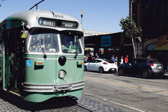 Pilier sur San Francisco Tram Photographie stock libre de droits