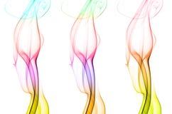 Pilier trois de fumée coloré image stock