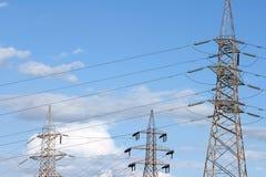 Piliers électriques Images libres de droits