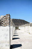 Piliers antiques de civilisation de Toltec photographie stock