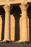 Piliers au temple de Karnak, Egypte images libres de droits