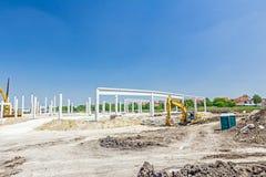 Piliers concrets de nouvel édifice images stock